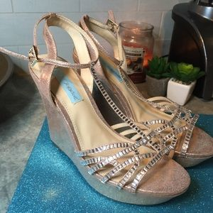 Blue by Betsey Johnson Ember Wedge Heels